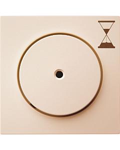 Berker S.1 centraalplaat met drukknop tijdrelais creme