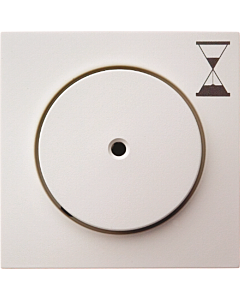 Berker S.1/B.3/B.7 centraalplaat drukknop tijdrelais wit