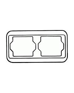 B-J Alpha afdekraam 2-voudig horizontaal platin