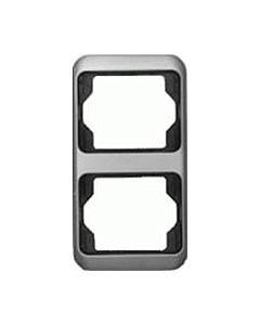 B-J Alpha afdekraam 2-voudig verticaal platin