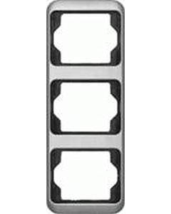 B-J Alpha afdekraam 3-voudig verticaal platin