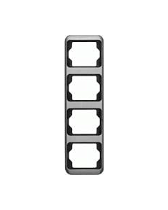 B-J Alpha afdekraam 4-voudig verticaal platin