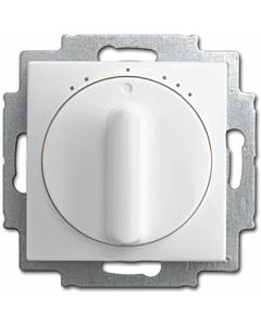 B-J Balance SI ventilatieschakelaar met knop 3-standen z.0 wit