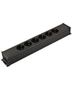 MK tafelcontactdoos 6V GST18 i/u zwart