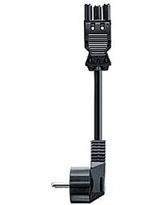 GST-18 netsnoer + RA 3G1,5 3 meter zwart