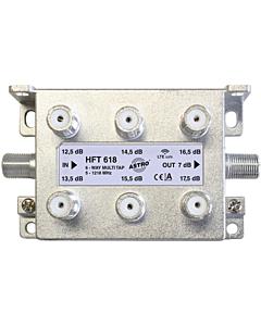 Astro multitap 6-voudig 13-18dB 5-1218 retourgeschikt HFT618
