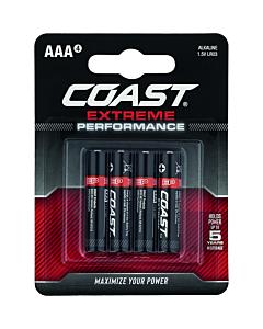 Coast Extreme Performance batterij alkaline potloodcel AAA 4 stuks