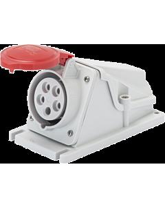 Gewiss CEE opbouwwandcontactdoos 5P 16A 400V rood IP44