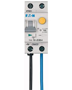 Eaton aardlekautomaat 16A 1P+N B-kar 6kA 30mA flex onder